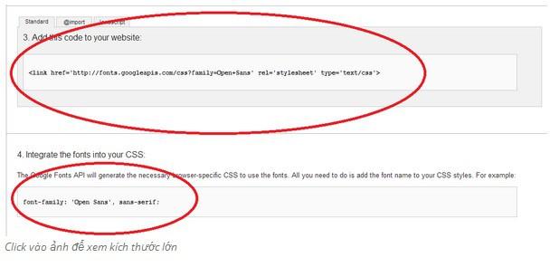 Hướng dẫn sử dụng Google Fonts trong Blogspot