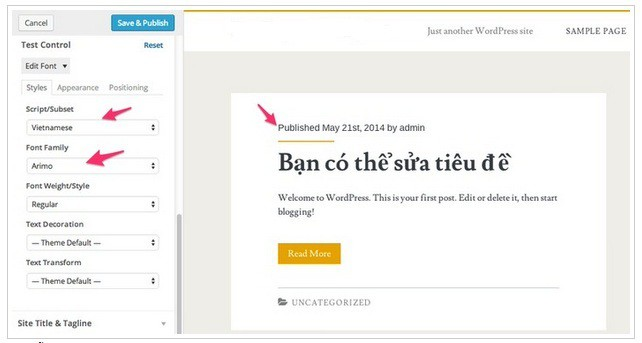 Hướng dẫn sử dụng Google Fonts trong WordPress