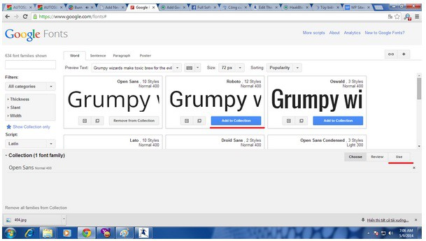 sử dụng Google Fonts trong Blogspot