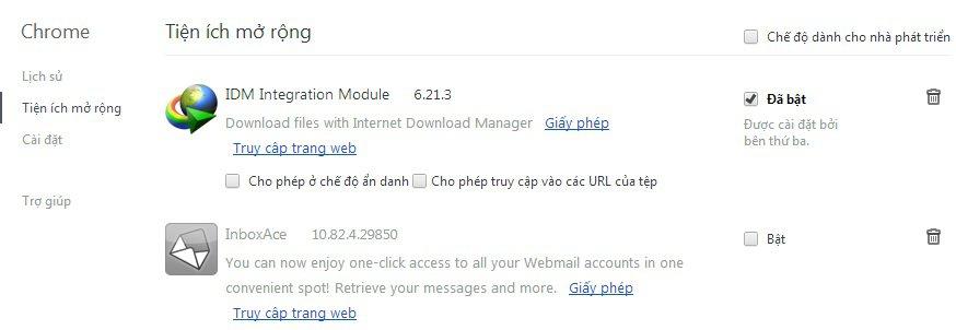 Lỗi không hiện nút Download IDM trên Youtube