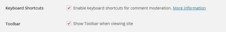 một số phím tắt trong wordpress