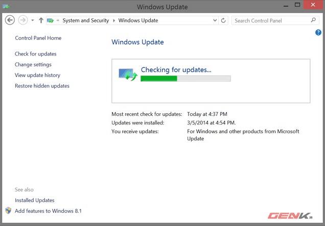Cách gỡ bỏ tính năng tự động cập nhật từ Windows Update