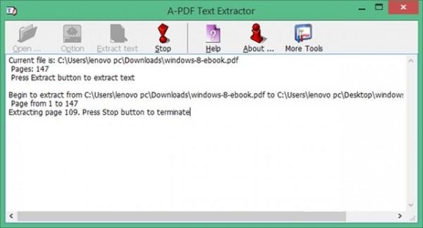 Cách trích xuất văn bản trực tiếp từ file PDF - A-PDF Text Extractor