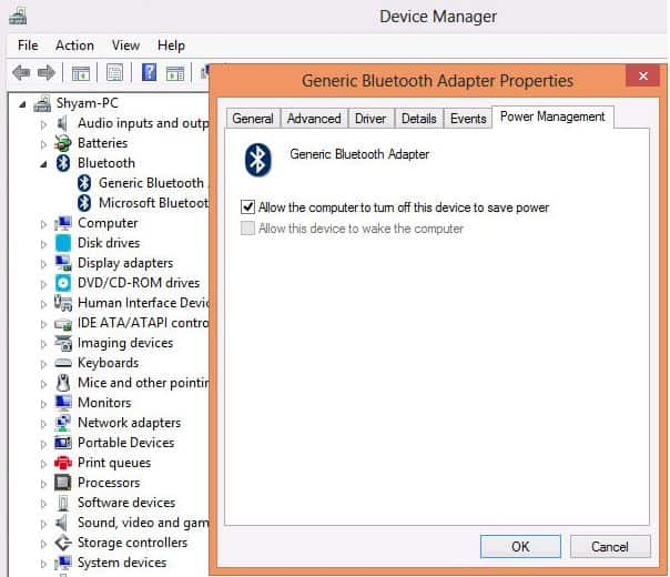 Khắc phục lỗi Bluetooth không làm việc trên Win 7 hoặc Win 8