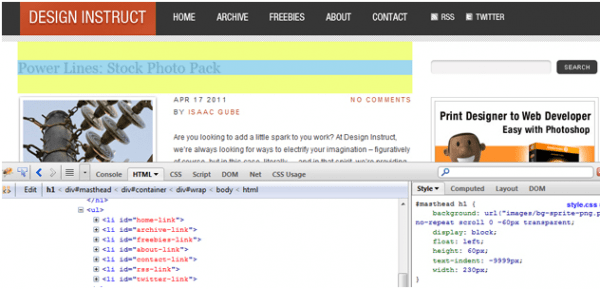 10 Add-on Firefox cho người thiết kế website - add on Firebug