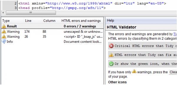 10 Add-on Firefox cho người thiết kế website - add on HTML-Validator