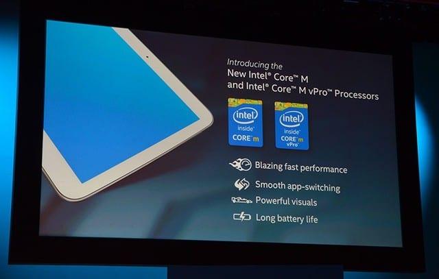 Intel Core M cũng toả ra rất ít nhiệt lượng