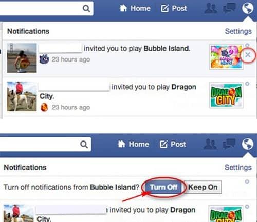 Chặn các lời mời chơi game, ứng dụng Facebook