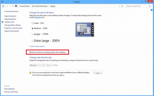 Hướng dẫn khắc phục lỗi ứng dụng mờ chữ trên Windows 8.1
