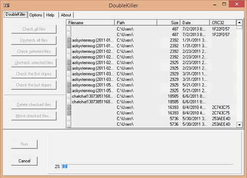 Hướng dẫn tìm và xóa tập tin trùng lắp trong ổ cứng - Doublekiller