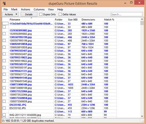 Hướng dẫn tìm và xóa tập tin trùng lắp trong ổ cứng - DupeGuru Picture Edition