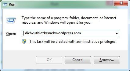 Những lệnh run thường dùng trong Windows