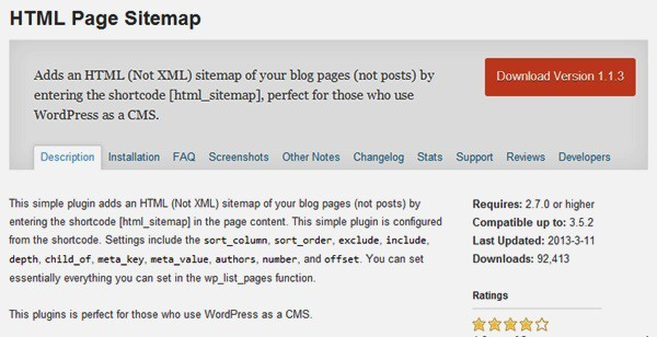 XML Sitemap tốt nhất cho WordPress - HTML Page Sitemap
