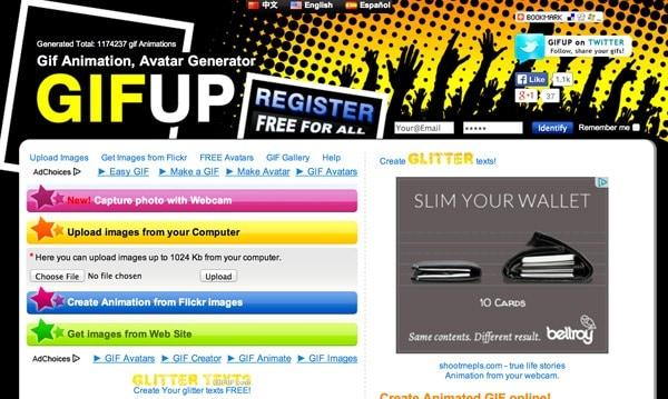 Những website tạo ảnh GIF miễn phí - GIFUp
