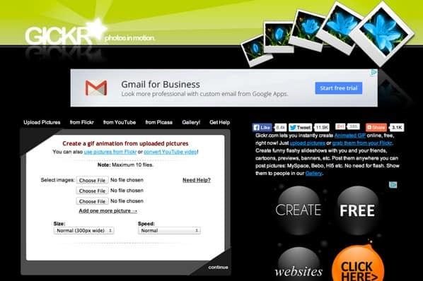 Những website tạo ảnh GIF miễn phí - Gickr