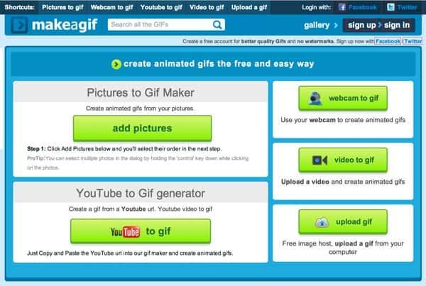 Những website tạo ảnh GIF miễn phí - MakeaGIF