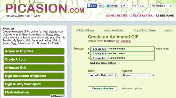 Những website tạo ảnh GIF miễn phí - Picasion