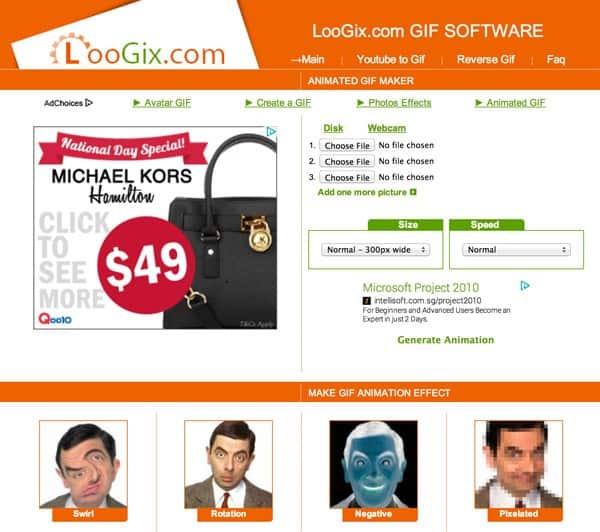 Những website tạo ảnh GIF miễn phí - loogix