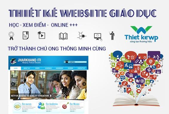 Thiết kế website giáo dục cổng thông tin dành cho các trường học