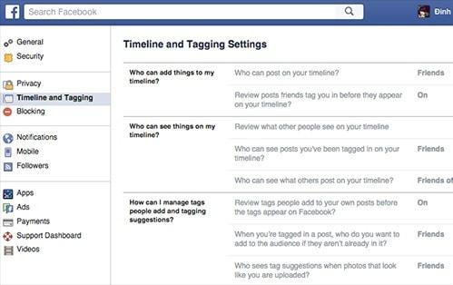 Thiết lập nâng cao trên Facebook