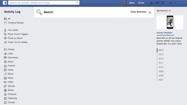 Hướng dẫn xoá lịch sử tìm kiếm Facebook