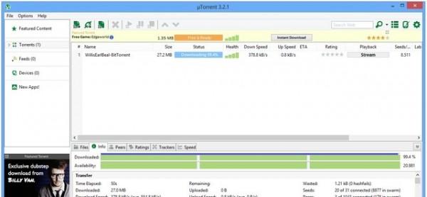 Những phần mềm tải Torrent tốt nhất hiện nay - Utorrent