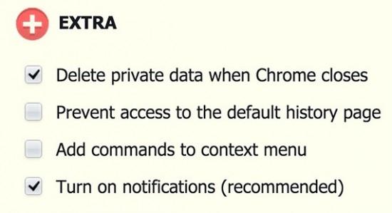 Tự động xoá dữ liệu khi đóng trình duyệt Chrome