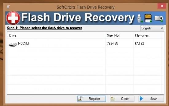 Ứng dụng giúp khôi phục dữ liệu xoá nhầm trên USB - SoftOrbits Flash Drive Recovery