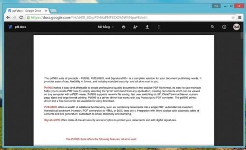 Chuyển đổi file PDF sang các định dạng Officekhông dùng phần mềm