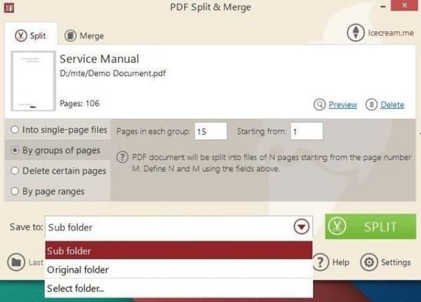 Chia nhỏ và nối các tập tin PDF với PDF Split & Merge