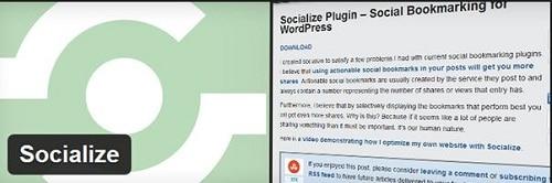 Plugin chia sẻ mạng xã hội - Socialize