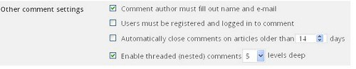 Cách hạn chế comment Spam trong Blog WordPress - Tùy chỉnh comment