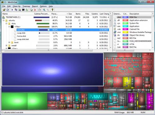 5 công cụ tuyệt vời tăng tốc cho PC - WinDirStat