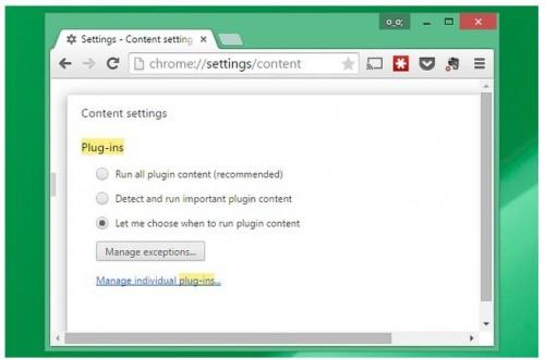 Sử dụng Click to Play khi cần thiết chạy các file flash