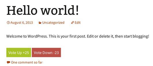 Cách tạo nút vote đơn giản trong WordPress
