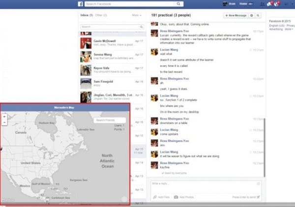 Cách xem bản đồ những nơi đã đi qua nhờ ứng dụng Facebook Messenger