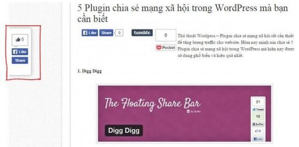Hướng dẫn cách cài đặt Plugin Digg Digg