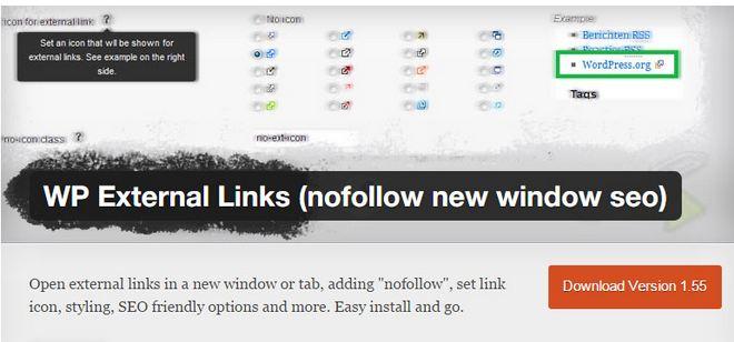 Tạo thẻ nofollow các liên kết ngoài với plugin WP External Links