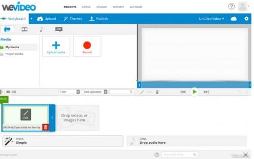 Những ứng dụng nền web mạnh mẽ và hữu ích mà không cần cài đặt- WeVideo