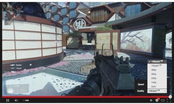 YouTube có thể phát trực tiếp 60 khung hình/giây