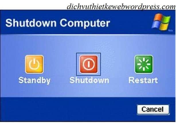 Chế độ tắt máy tính trên windows