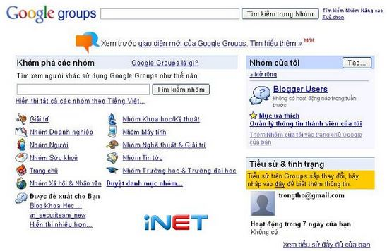 Hướng dẫn cách tạo Google Group