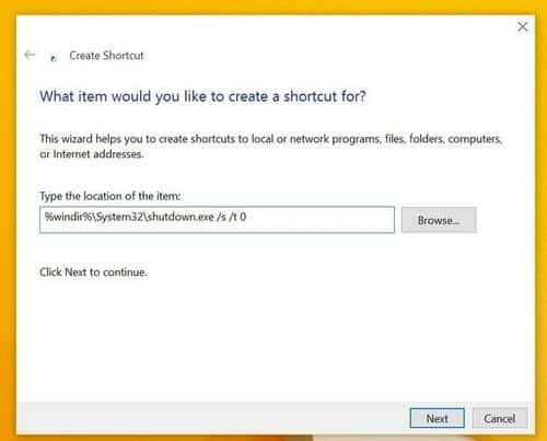 Cách tắt nhanh máy tính sử dụng Windows 10