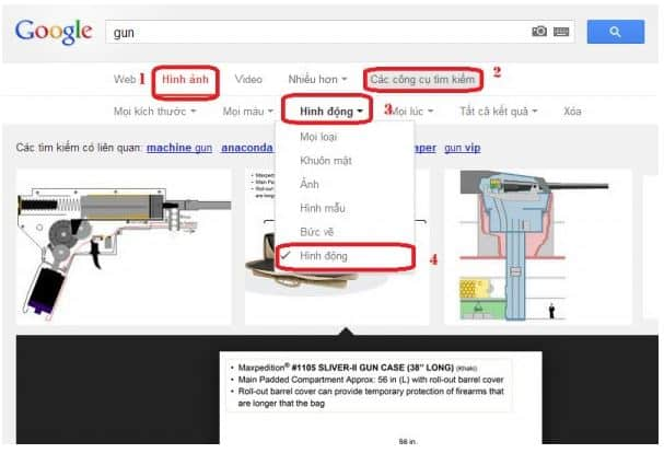 Hướng dẫn cách tìm kiếm ảnh động GIF trên Google