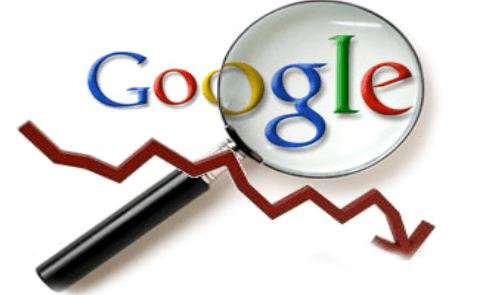 Những lý do website rớt hạng trên Google