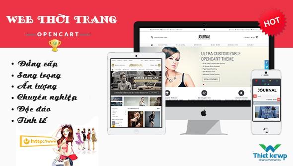 Thiết kế Website thời trang với phong cách trẻ trung và độc đáo