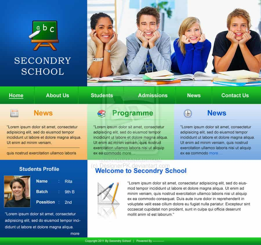 thiet ke website truong học
