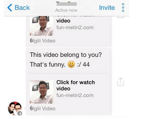 Virus lừa đảo trong Facebook Messenger