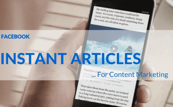 Làm nội dung tiếp thị với Facebook Instant Articles