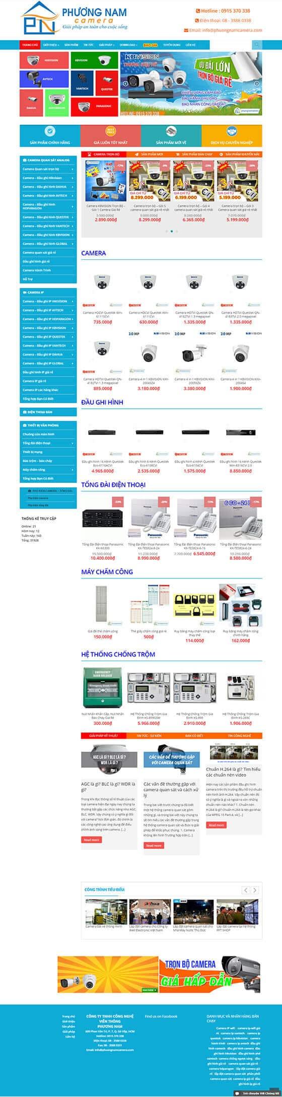 Mẫu giao diện website bán hàng, shop online 03